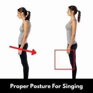 Proper posture for singing