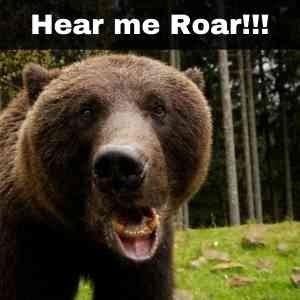 growling like a bear