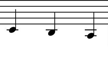 lower vocal notes