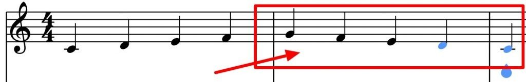 vocal run downward